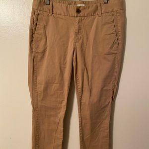 J. Crew Frankie khaki pants